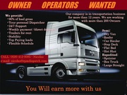Looking for Owner Operators